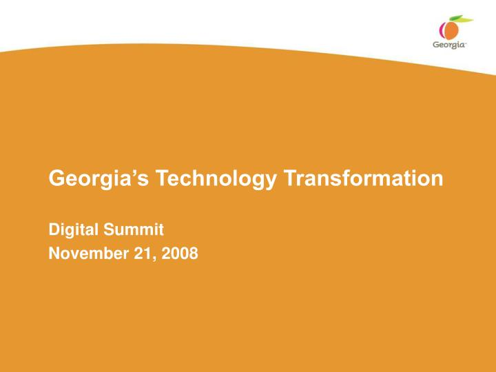 Georgia's Technology Transformation