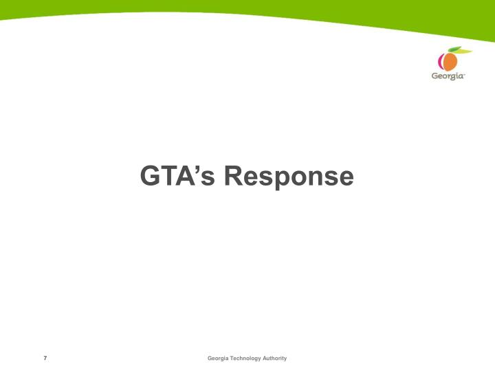 GTA's Response