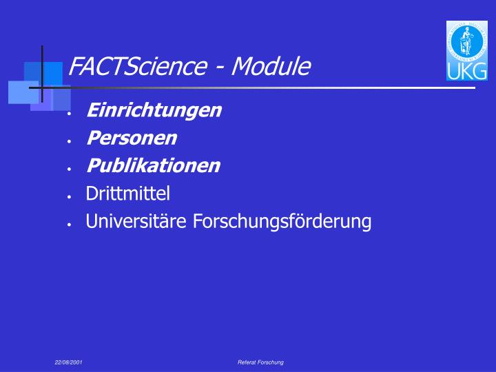 FACTScience - Module