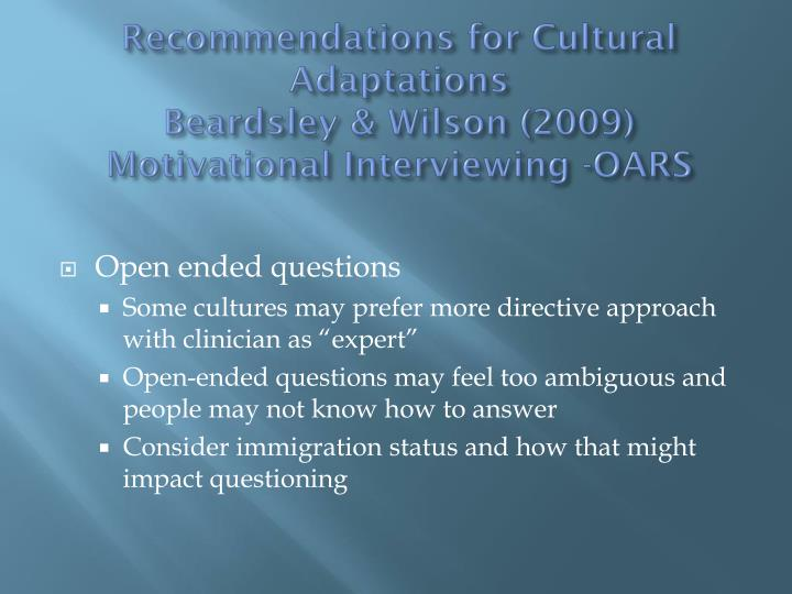 motivational interviewing in a multicultural setting The association for multicultural counseling and development  motivational  interviewing in a group setting with mandated clients: a pilot study addictive.