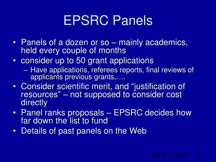 EPSRC Panels