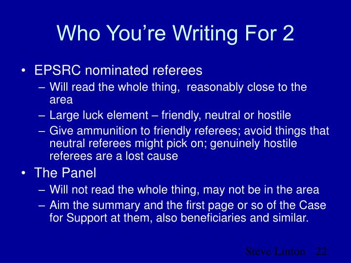 Who You're Writing For 2
