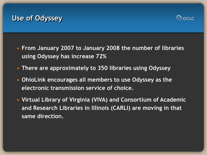 Use of Odyssey