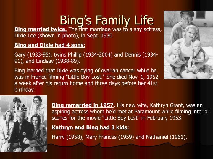 Bing's Family Life