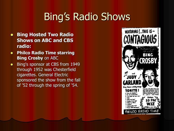 Bing's Radio Shows