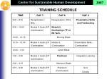 training schedule2