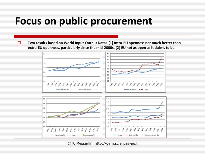 Focus on public procurement