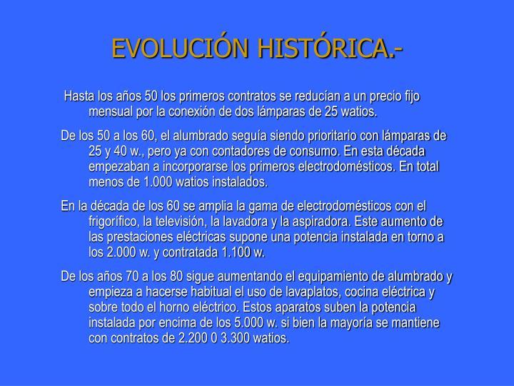 EVOLUCIÓN HISTÓRICA.-