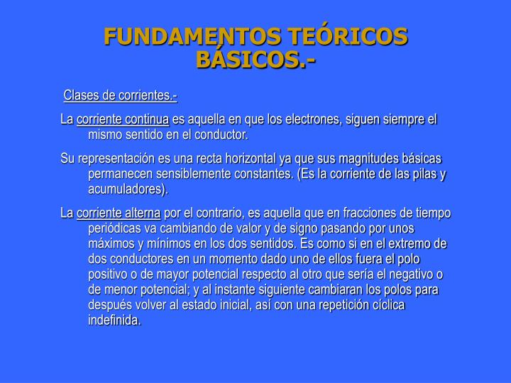 FUNDAMENTOS TEÓRICOS BÁSICOS.-
