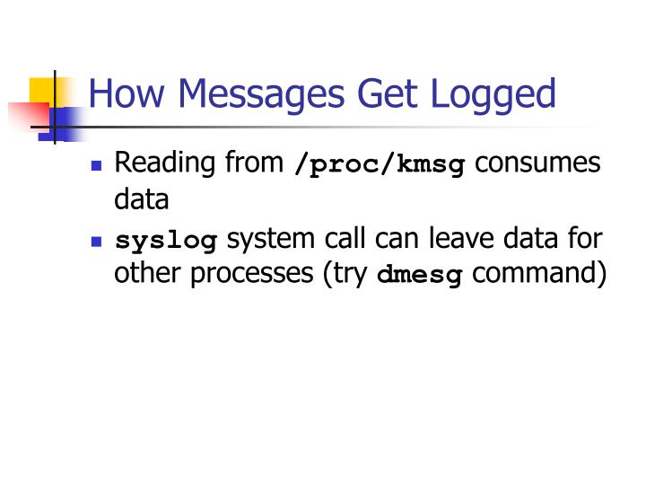 How Messages Get Logged