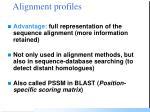 alignment profiles