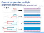 general progressive multiple alignment technique follow generated tree