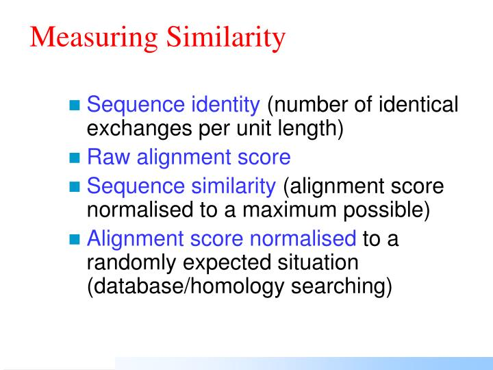 Measuring Similarity
