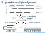 progressive multiple alignment
