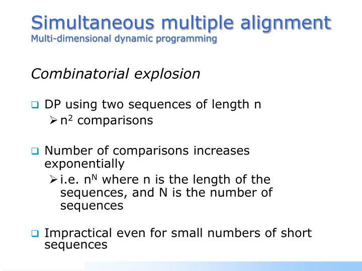 Simultaneous multiple alignment