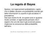 la regola di bayes