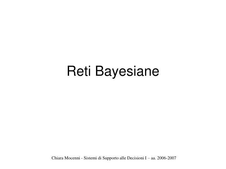 Reti Bayesiane