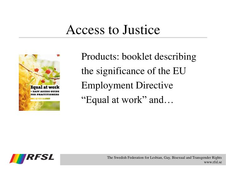 Access to Justice