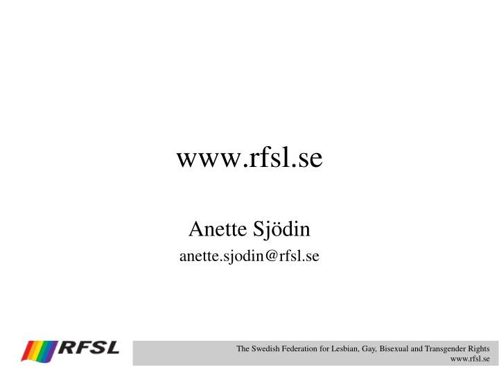 www.rfsl.se