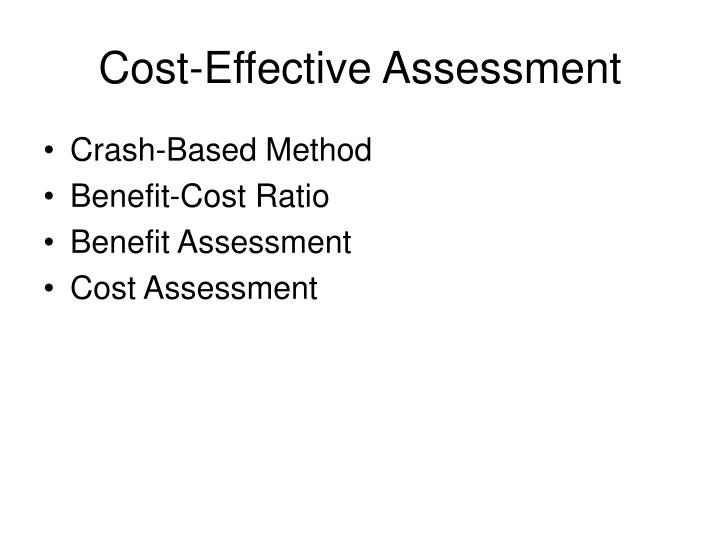 Cost-Effective Assessment