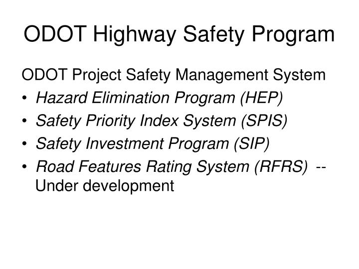 ODOT Highway Safety Program