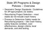 state 3r programs design policies overview