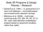 state 3r programs design policies research