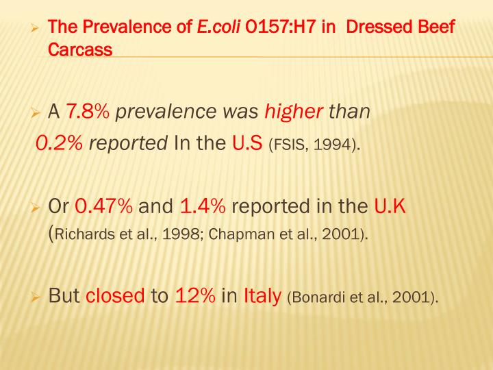 The Prevalence of