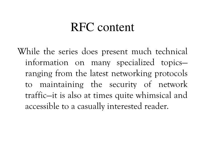 RFC content