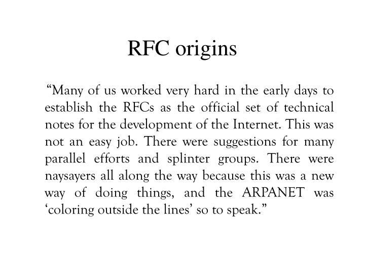 RFC origins