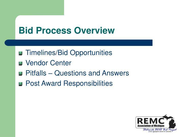Bid Process Overview