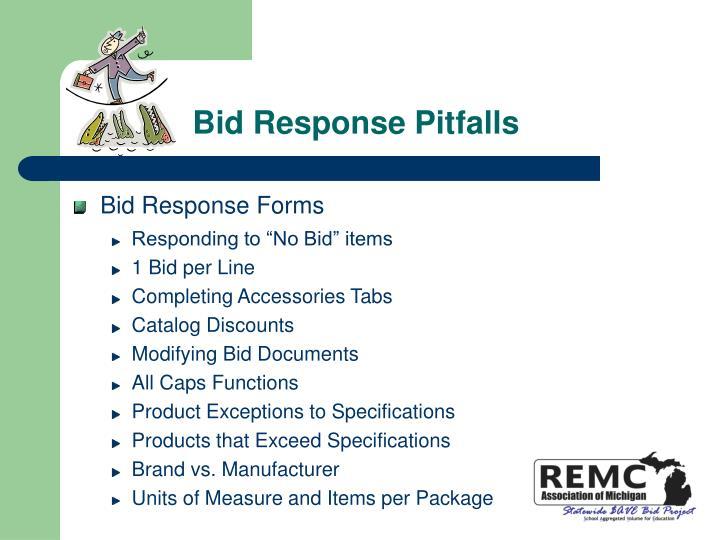 Bid Response Pitfalls
