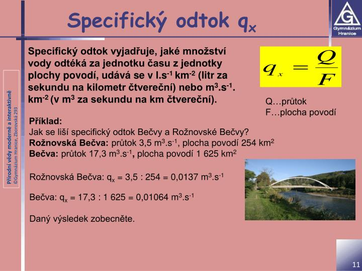 Specifický odtok q