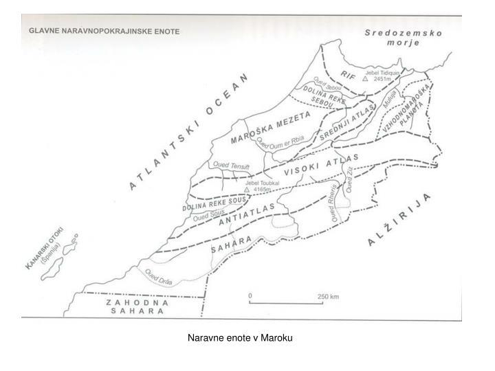 Naravne enote v Maroku