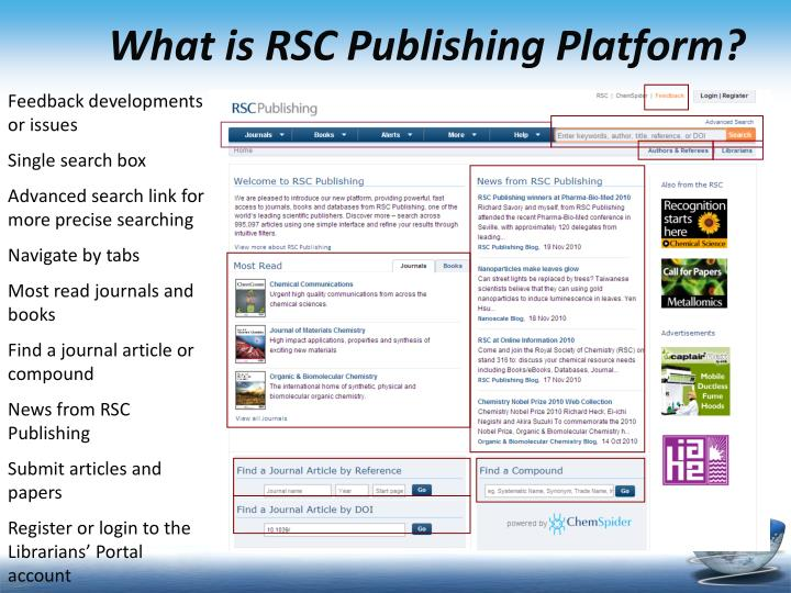What is RSC Publishing Platform?