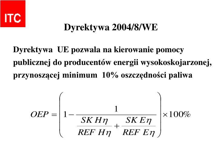 Dyrektywa 2004/8/WE