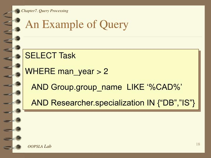 An Example of Query