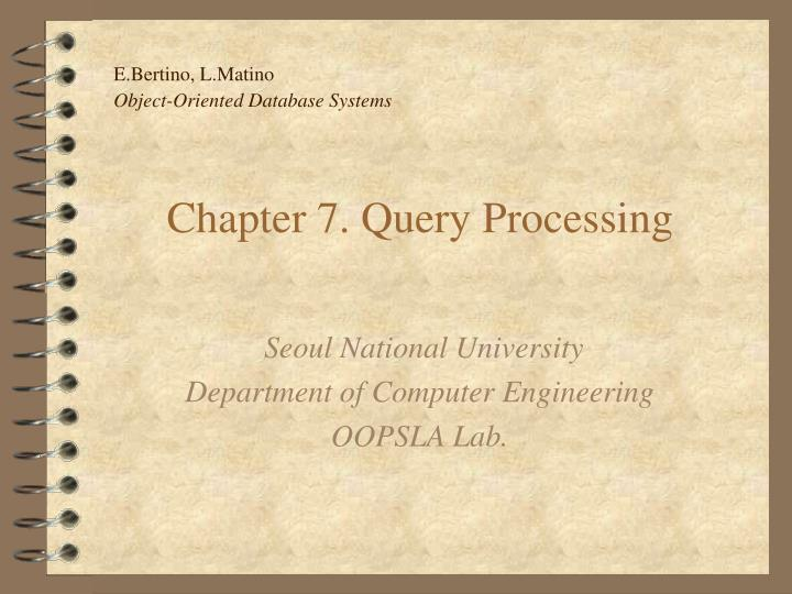 chapter 7 query processing