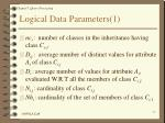logical data parameters 1