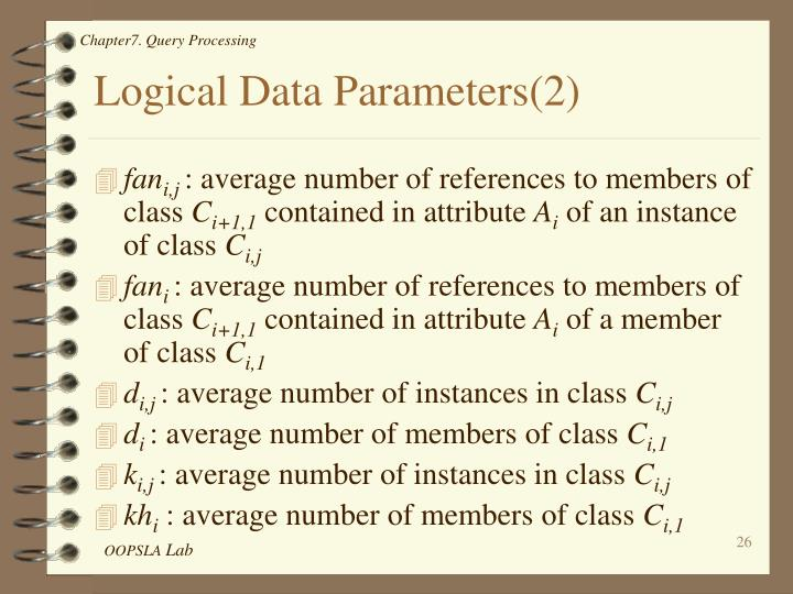Logical Data Parameters(2)