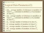 logical data parameters 2