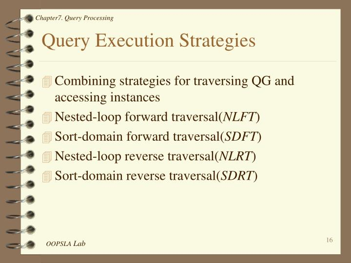 Query Execution Strategies