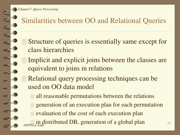 Similarities between OO and Relational Queries