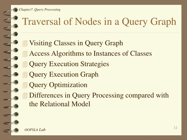 Traversal of Nodes in a Query Graph