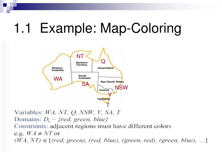 1.1  Example: Map-Coloring