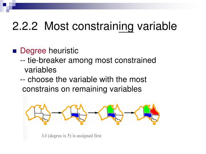 2.2.2  Most constrain