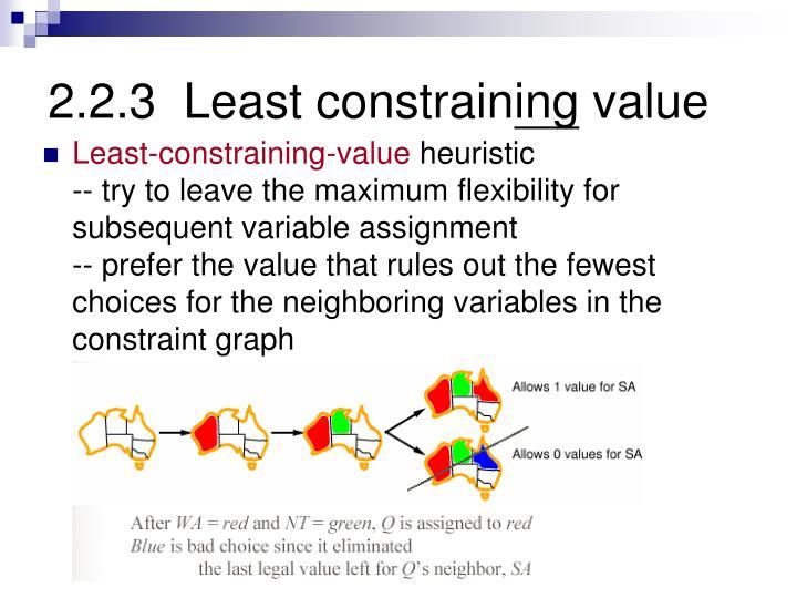 2.2.3  Least constrain