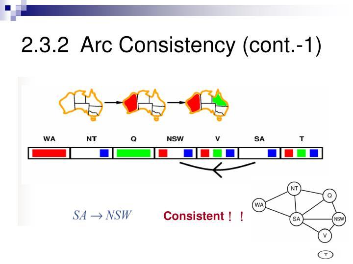 2.3.2  Arc Consistency (cont.-1)