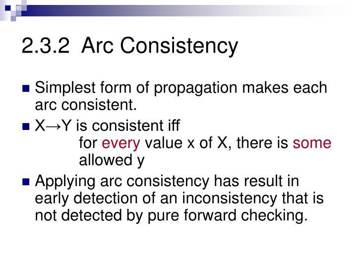 2.3.2  Arc Consistency