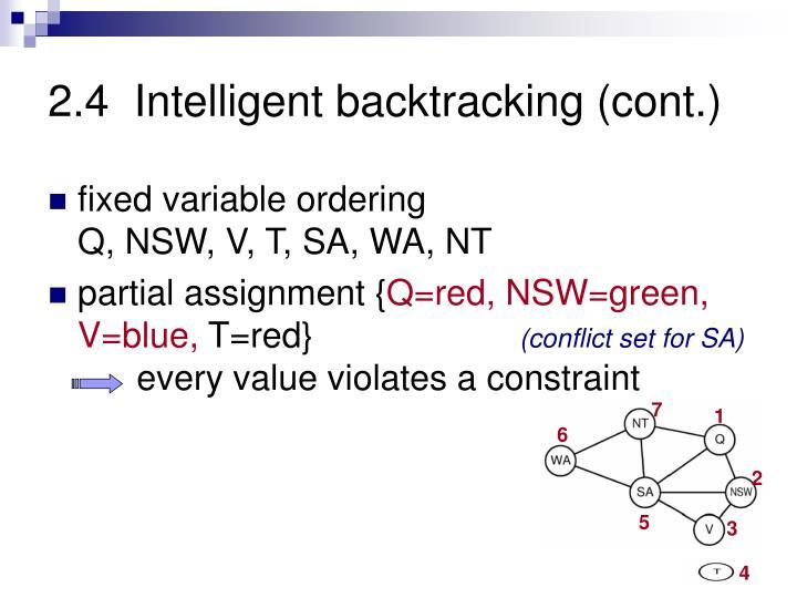 2.4  Intelligent backtracking (cont.)